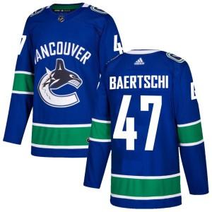 Men's Vancouver Canucks Sven Baertschi Adidas Authentic Home Jersey - Blue