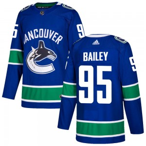 Men's Vancouver Canucks Justin Bailey Adidas Authentic Home Jersey - Blue