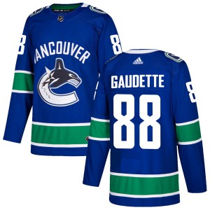 Men's Vancouver Canucks Adam Gaudette Adidas Authentic Home Jersey - Blue