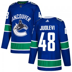 Men's Vancouver Canucks Olli Juolevi Adidas Authentic ized Home Jersey - Blue