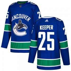 Men's Vancouver Canucks Brady Keeper Adidas Authentic Home Jersey - Blue