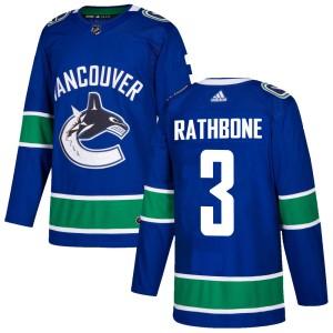 Men's Vancouver Canucks Jack Rathbone Adidas Authentic Home Jersey - Blue