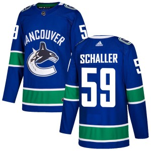 Men's Vancouver Canucks Tim Schaller Adidas Authentic Home Jersey - Blue