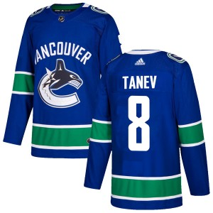 Men's Vancouver Canucks Chris Tanev Adidas Authentic Home Jersey - Blue