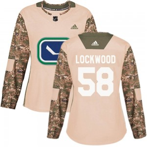 Women's Vancouver Canucks William Lockwood Adidas Authentic Veterans Day Practice Jersey - Camo