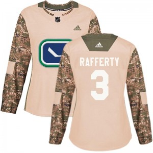 Women's Vancouver Canucks Brogan Rafferty Adidas Authentic Veterans Day Practice Jersey - Camo