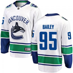 Men's Vancouver Canucks Justin Bailey Fanatics Branded Breakaway Away Jersey - White