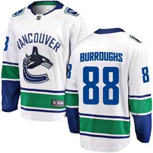 Men's Vancouver Canucks Kyle Burroughs Fanatics Branded Breakaway Away Jersey - White