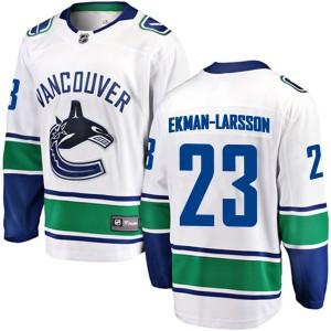 Men's Vancouver Canucks Oliver Ekman-Larsson Fanatics Branded Breakaway Away Jersey - White