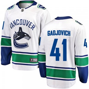 Men's Vancouver Canucks Jonah Gadjovich Fanatics Branded Breakaway Away Jersey - White