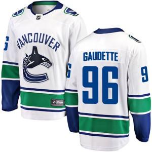 Men's Vancouver Canucks Adam Gaudette Fanatics Branded Breakaway Away Jersey - White