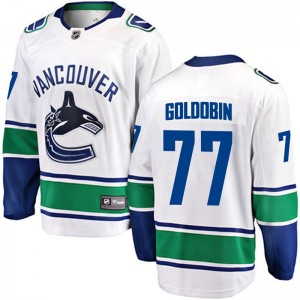 Men's Vancouver Canucks Nikolay Goldobin Fanatics Branded Breakaway White Away Jersey - Gold