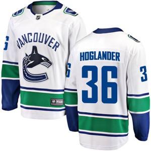 Men's Vancouver Canucks Nils Hoglander Fanatics Branded Breakaway Away Jersey - White