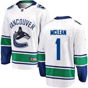 Men's Vancouver Canucks Kirk Mclean Fanatics Branded Breakaway Away Jersey - White