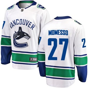Men's Vancouver Canucks Sergio Momesso Fanatics Branded Breakaway Away Jersey - White