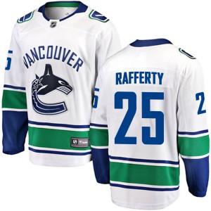 Men's Vancouver Canucks Brogan Rafferty Fanatics Branded Breakaway Away Jersey - White