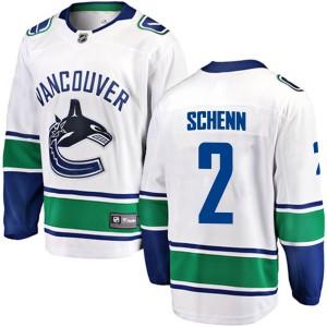 Men's Vancouver Canucks Luke Schenn Fanatics Branded Breakaway Away Jersey - White