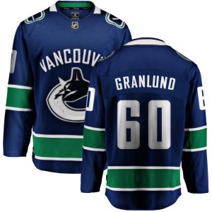 Men's Vancouver Canucks Markus Granlund Fanatics Branded Home Breakaway Jersey - Blue