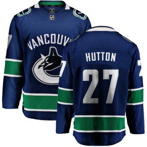 Men's Vancouver Canucks Ben Hutton Fanatics Branded Home Breakaway Jersey - Blue