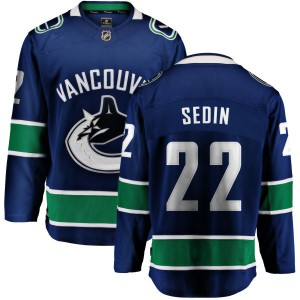 Men's Vancouver Canucks Daniel Sedin Fanatics Branded Home Breakaway Jersey - Blue