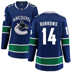 Women's Vancouver Canucks Alex Burrows Fanatics Branded Home Breakaway Jersey - Blue