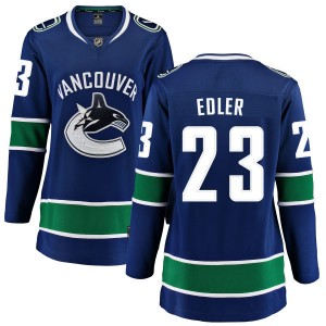 Women's Vancouver Canucks Alexander Edler Fanatics Branded Home Breakaway Jersey - Blue