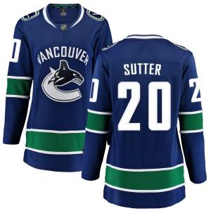 Women's Vancouver Canucks Brandon Sutter Fanatics Branded Home Breakaway Jersey - Blue