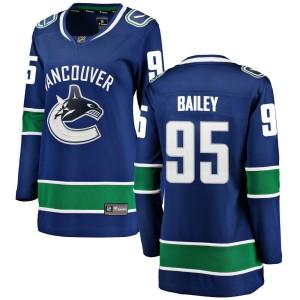 Women's Vancouver Canucks Justin Bailey Fanatics Branded Breakaway Home Jersey - Blue