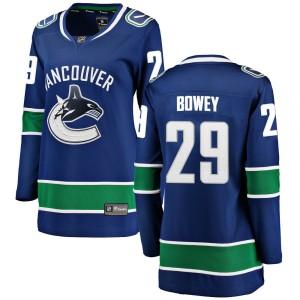 Women's Vancouver Canucks Madison Bowey Fanatics Branded Breakaway Home Jersey - Blue
