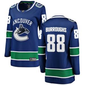 Women's Vancouver Canucks Kyle Burroughs Fanatics Branded Breakaway Home Jersey - Blue