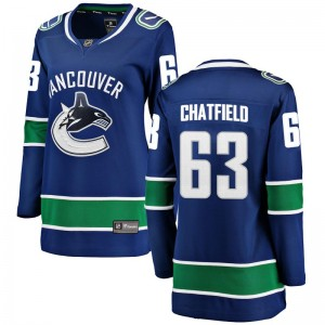 Women's Vancouver Canucks Jalen Chatfield Fanatics Branded Breakaway Home Jersey - Blue