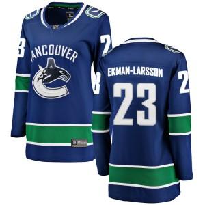 Women's Vancouver Canucks Oliver Ekman-Larsson Fanatics Branded Breakaway Home Jersey - Blue