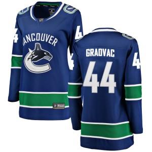 Women's Vancouver Canucks Tyler Graovac Fanatics Branded Breakaway Home Jersey - Blue