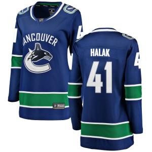Women's Vancouver Canucks Jaroslav Halak Fanatics Branded Breakaway Home Jersey - Blue