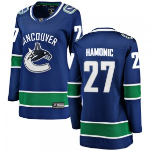 Women's Vancouver Canucks Travis Hamonic Fanatics Branded Breakaway Home Jersey - Blue