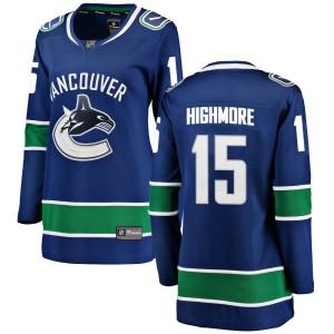 Women's Vancouver Canucks Matthew Highmore Fanatics Branded Breakaway Home Jersey - Blue