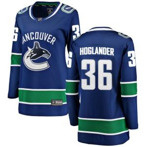 Women's Vancouver Canucks Nils Hoglander Fanatics Branded Breakaway Home Jersey - Blue