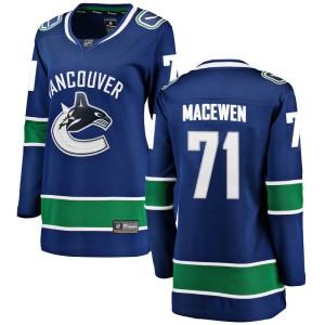 Women's Vancouver Canucks Zack MacEwen Fanatics Branded Breakaway Home Jersey - Blue