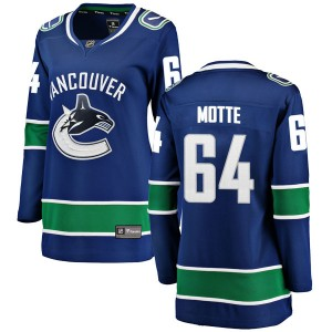 Women's Vancouver Canucks Tyler Motte Fanatics Branded Breakaway Home Jersey - Blue