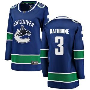 Women's Vancouver Canucks Jack Rathbone Fanatics Branded Breakaway Home Jersey - Blue