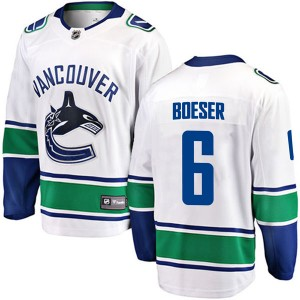 Youth Vancouver Canucks Brock Boeser Fanatics Branded Breakaway Away Jersey - White