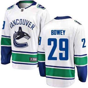 Youth Vancouver Canucks Madison Bowey Fanatics Branded Breakaway Away Jersey - White