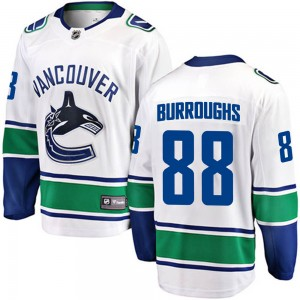Youth Vancouver Canucks Kyle Burroughs Fanatics Branded Breakaway Away Jersey - White
