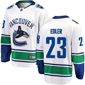 Youth Vancouver Canucks Alexander Edler Fanatics Branded Breakaway Away Jersey - White