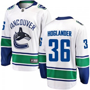 Youth Vancouver Canucks Nils Hoglander Fanatics Branded Breakaway Away Jersey - White