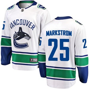 Youth Vancouver Canucks Jacob Markstrom Fanatics Branded Breakaway Away Jersey - White