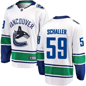 Youth Vancouver Canucks Tim Schaller Fanatics Branded Breakaway Away Jersey - White
