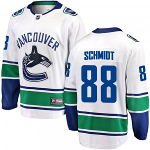 Youth Vancouver Canucks Nate Schmidt Fanatics Branded Breakaway Away Jersey - White