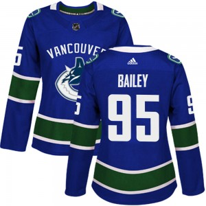 Women's Vancouver Canucks Justin Bailey Adidas Authentic Home Jersey - Blue
