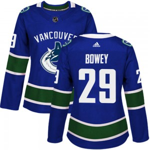Women's Vancouver Canucks Madison Bowey Adidas Authentic Home Jersey - Blue